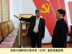段铁力在黑龙江烟草基层联系点调查党建工作